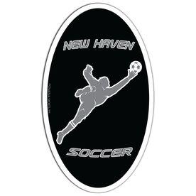 Soccer Oval Car Magnet Personalized Goalie