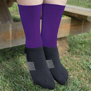 Soccer Printed Mid-Calf Socks - Team Colors