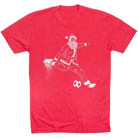 Soccer Short Sleeve T-Shirt - Santa Player