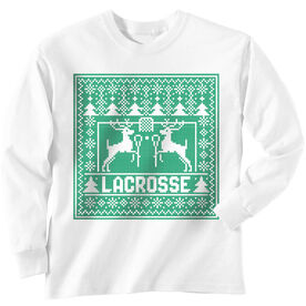 Lacrosse Long Sleeve T-Shirt - Lacrosse Christmas Knit