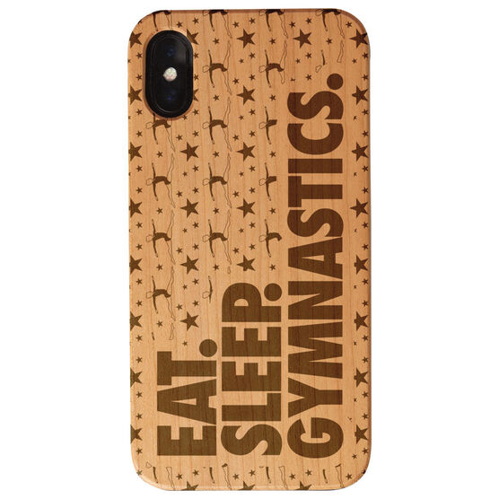 Gymnastics Engraved Wood IPhone® Case - Eat. Sleep. Gymnastics.
