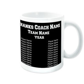 Field Hockey Coffee Mug Thanks Coach Custom Logo with Team Roster