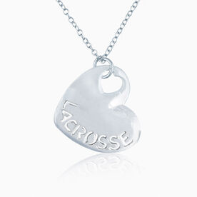 Sport Heart - LACROSSE Silver Necklace