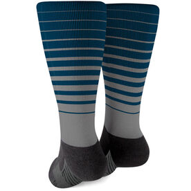 Printed Mid-Calf Socks - Stripes