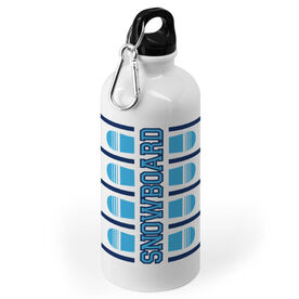 Snowboarding 20 oz. Stainless Steel Water Bottle - Word With Stripes