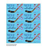 Pucker Up Hockey Valentine's Day Card