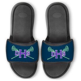 Girls Lacrosse Repwell™ Slide Sandals - Monogram with Lax Sticks