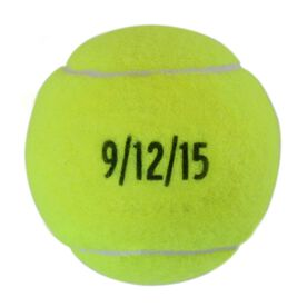 Custom Date Tennis Ball
