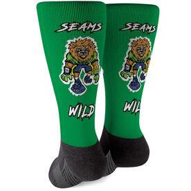 Seams Wild Football Printed Mid-Calf Socks - Kingsley