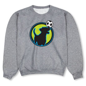 Soccer Crew Neck Sweatshirt - Soccer Dog Green
