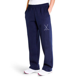 Hockey Fleece Sweatpants - Hockey Stick Silhouette