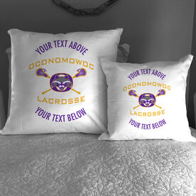 Throw Pillow - Oconomowoc Lacrosse Logo