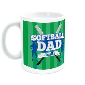 Softball Coffee Mug Personalized Dad