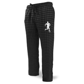 Soccer Lounge Pants Player Silhouette Guy