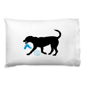 Volleyball Pillowcase - Holly The Volleyball Dog