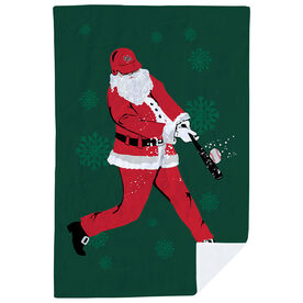 Baseball Premium Blanket - Homerun Santa