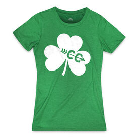 Women's Everday Tee Shamrock With Cross Country CC