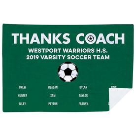 Soccer Premium Blanket - Thanks Coach (Horizontal)
