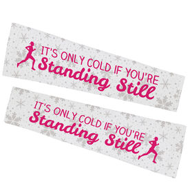 Running Printed Arm Sleeves - It's Only Cold If You're Standing Still (Snowflake)