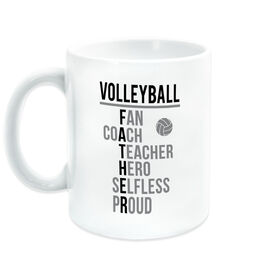 Volleyball Coffee Mug - Volleyball Father Words