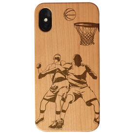 Basketball Engraved Wood IPhone® Case - Tip Up Players