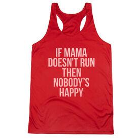 Women's Racerback Performance Tank Top - If Mama Doesn't Run