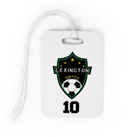 Soccer Bag/Luggage Tag - Custom Soccer Logo with Team Number