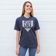 Softball Short Sleeve T-Shirt - There's No Plate Like Home