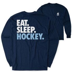 Hockey Tshirt Long Sleeve - Eat. Sleep. Hockey (Logo Collection)