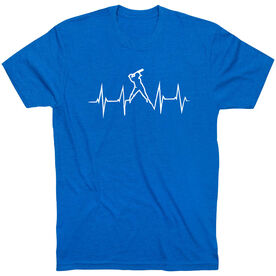 Softball T-Shirt Short Sleeve Heartbeat Batter