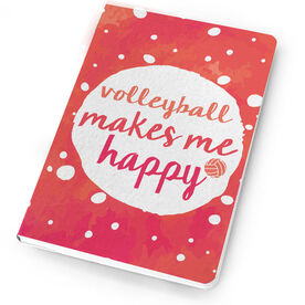 Volleyball Notebook Makes Me Happy