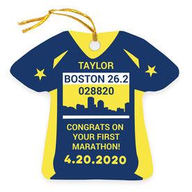 Running Ornament - Boston 26.2 Shirt
