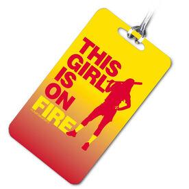 Softball Bag/Luggage Tag This Girl Is On Fire Batter