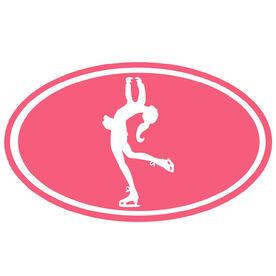 Figure Skating Girl Silhouette Vinyl Decal