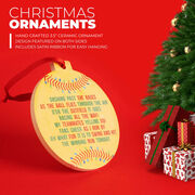 Softball Round Ceramic Ornament - Jingle All the Way
