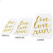 Running Bag/Luggage Tag - Live Love Run Faux Glitter