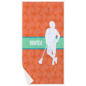 Guys Lacrosse Premium Beach Towel - Personalized Chill Lacrosse