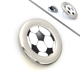 Soccer Lapel Pin Soccer Ball Graphic