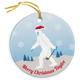 Golf Porcelain Ornament Abominable Golfman