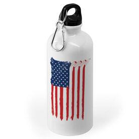 Hockey 20 oz. Stainless Steel Water Bottle - American Flag Sticks