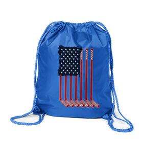 Hockey Sport Pack Cinch Sack - American Flag