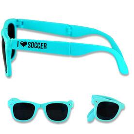Foldable Soccer Sunglasses I Heart Soccer