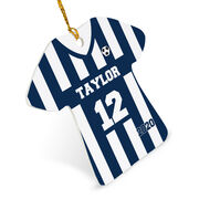 Soccer Ornament - Personalized Stripes Jersey