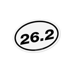 26.2 Marathon White Mini Car Magnet - Fun Size