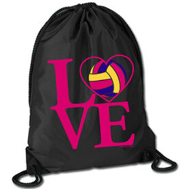 Volleyball Sport Pack Cinch Sack Love Volleyball