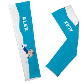 Skiing Printed Arm Sleeves Personalized Skier