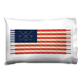 Hockey Pillowcase - Laces Flag