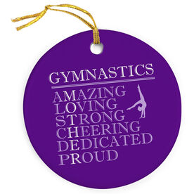 Gymnastics Porcelain Ornament - Mother Words (Girl Gymnast)