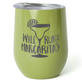 Running Stainless Steel Wine Tumbler - Will Run For Margaritas