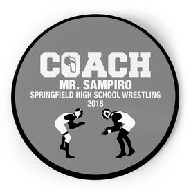 Wrestling Circle Plaque - Coach With 3 Lines